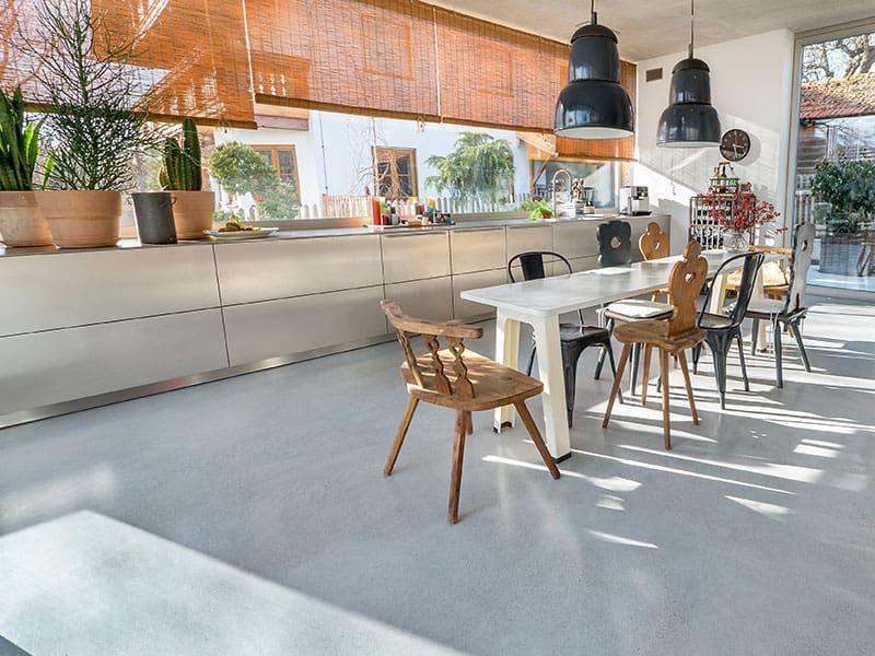 Sichtestrich in der Küche