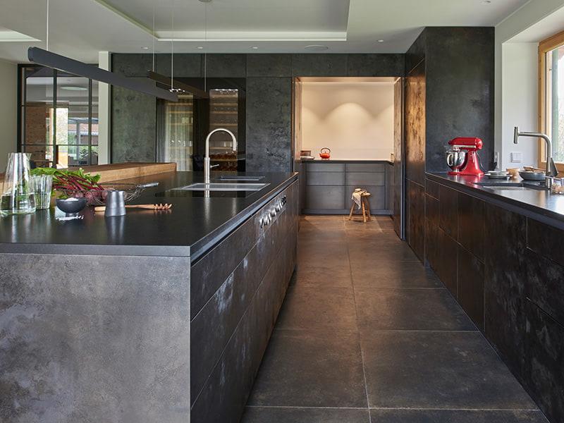 Metallfronten in der Küche