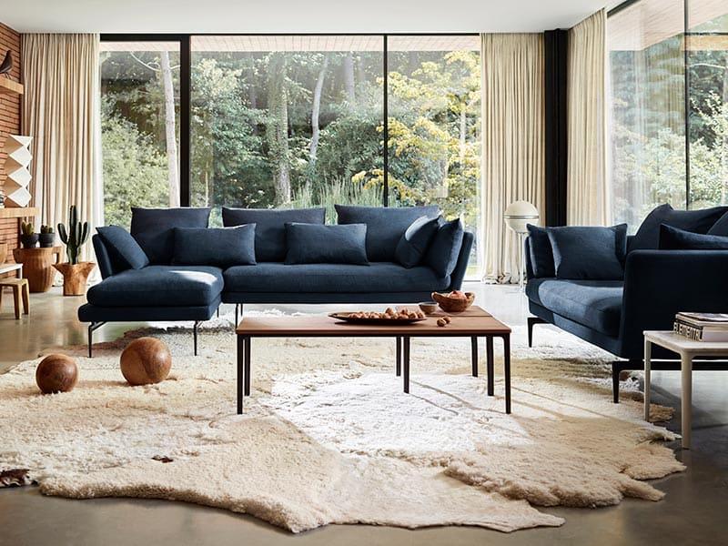 Einrichtung eines Wohnzimmer mit Möbel von Vitra