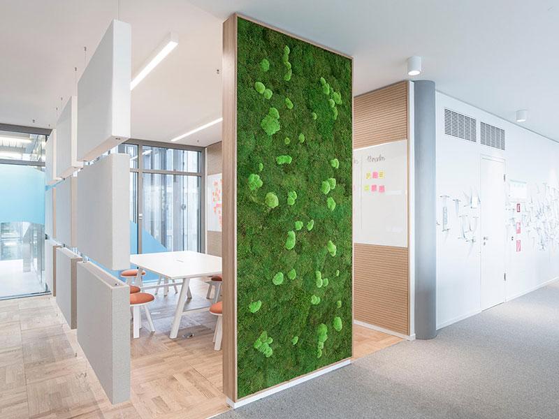 Trennwände für Raumakustik mit Stylegreen