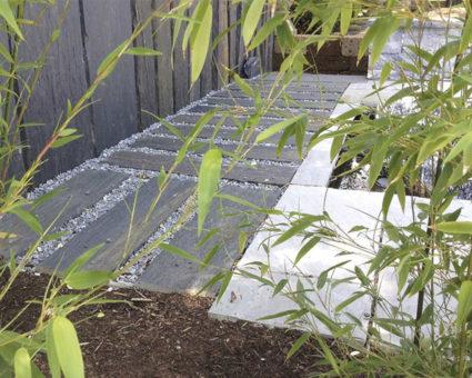 Terrassenboden aus Schieferplatten