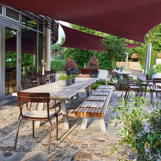 Terrasse, Café und Restaurant werkhaus Raubling bei Rosenheim